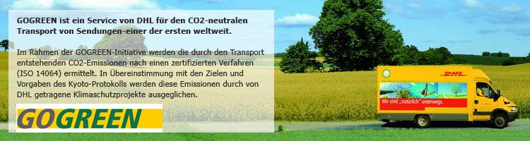 DHL - Go Green der umweltfreundliche Versand