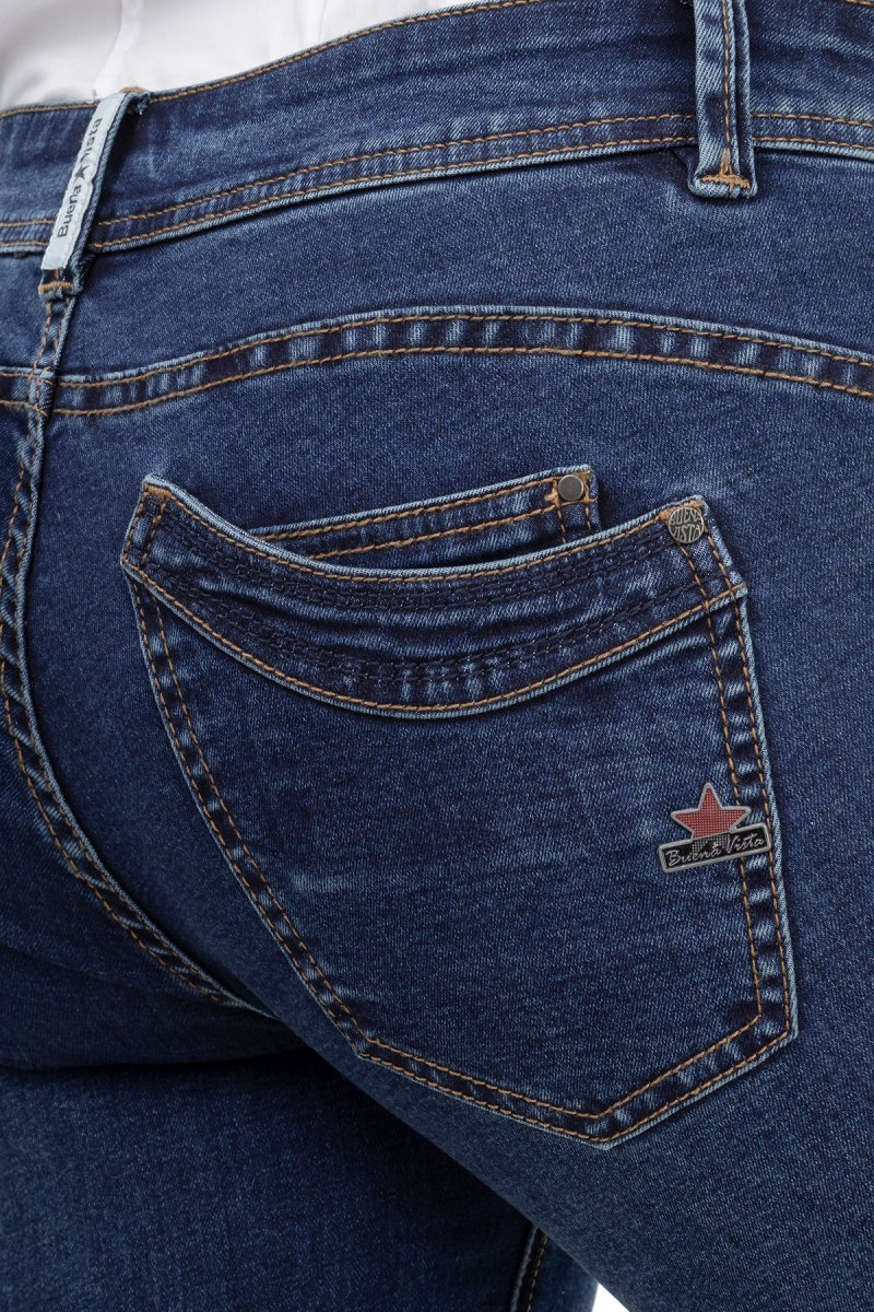 Buena Vista Jeans Malibu Stretch Denim Skinny/Röhre dark blue