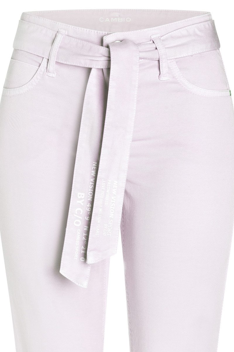 CAMBIO Jeans Scout cropped Straight Fit lilac breeze