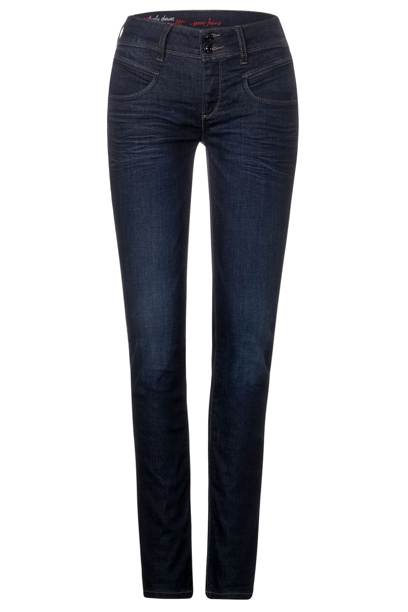 Street One Jeans Jane Slim Fit blue soft wash