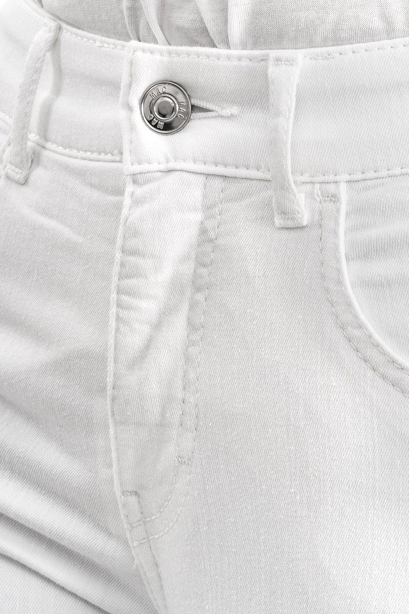 Mac Jeans Capri summer fringe white