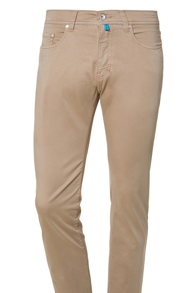 Pierre Cardin Hose Modern Fit Lyon tapered Futureflex camel