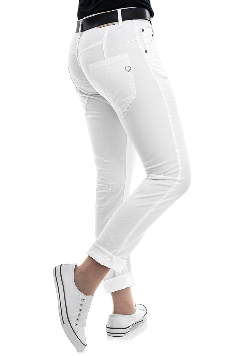 PLEASE Jeans P 85A Straight Fit bianco ottico