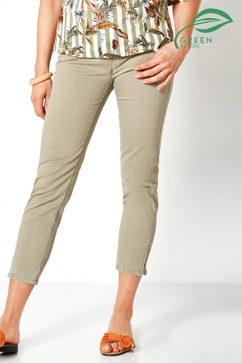 Toni Hose Perfect Shape Zip 7/8 Slim Fit light khaki