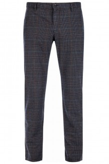 Alberto Chino Lou-J Colour Check regular fit braun-terra
