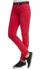 Buena Vista Jeans Anna C Colour Denim Straight Fit true red