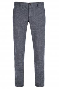 Alberto Chino Rob Yarn Dyed Check Slim Fit blau-braun