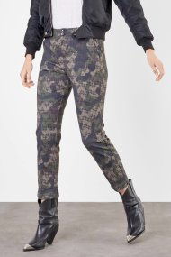 MAC Hose Cora Straight Fit military green season printed