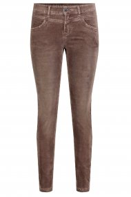 MAC Hose Slim velvet Slim Fit brown
