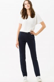 Brax Hose Carola Cotton Satin Feminin Fit navy