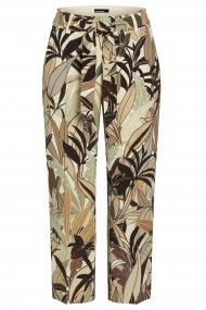 CAMBIO Hose Claire Feminin Fit vanilla/brown jungle panther print
