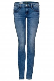 Street One Jeans Crissi Skinny/Röhre mid blue washed