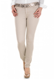 Mac Casual Dream Skinny Cotton ivory