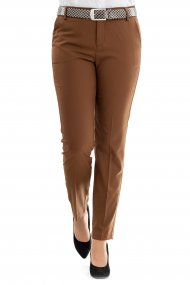 MAC Hose Cleo Straight Fit cognac
