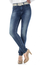Mac Hose Denim Dream Skinny mid blue dirty used