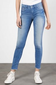 MAC Jeans Slim Fringle Straight Fit light blue