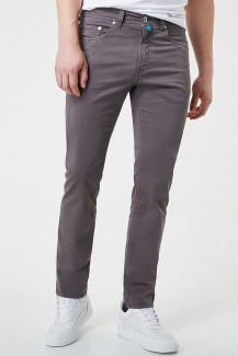 Pierre Cardin Hose Modern Fit Lyon tapered Futureflex grau