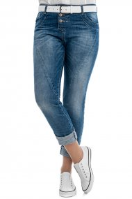 PLEASE Jeans P 78A Straight Fit blue denim
