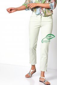 Toni Hose Perfect Shape Zip 7/8 Slim Fit mint